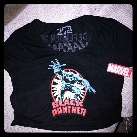 a0431c71c2b7 Marvel Tops   Black Panther Defender Of Wakanda Crop Top   Poshmark